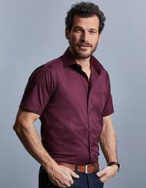 Men´s Short Sleeve Fitted Stretch Shirt