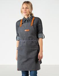 Bib Apron Canvas with decorative label